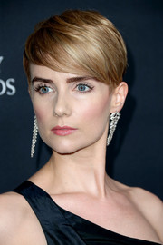 Victoria Summer looked cool and trendy with her emo bangs at the 2016 AMD British Academy Britannia Awards.