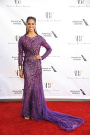 Misty Copeland made a dramatic entrance in a textured purple fishtail gown by Prabal Gurung at the American Ballet Theatre Spring Gala.