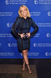 Jane Krakowski teamed her dress with sexy black lace-up heels.