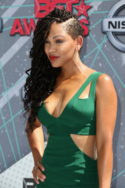 Meagan Good made a bold statement with her half-shaved braids at the 2016 BET Awards.