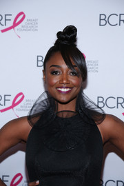 Patina Miller rocked a funky top knot at the Hot Pink Party.