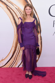 Constance Jablonski was a visual explosion in this purple and pink polka-dot gown by J. Mendel at the 2016 CFDA Fashion Awards.