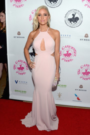 Kristin Cavallari looked ravishing in a blush-colored halterneck cutout gown by Jay Godfrey at the 2016 Carousel of Hope Ball.