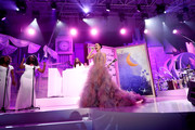 Katy Perry gave a dazzling performance at the Once Upon a Time Gala wearing this voluminous Marchesa confection.