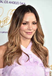 Katharine McPhee styled her tresses into a feathered flip for the Once Upon a Time Gala.