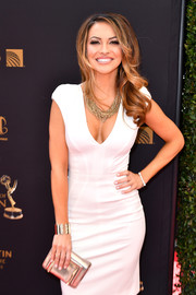 Chrishell Stause wore a chic gold cuff bracelet to the 2016 Daytime Emmy Awards.