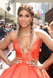 Tamar Braxton wore fairytale-chic French braids to the 2016 Daytime Emmy Awards.