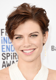 Lauren Cohan rocked just-got-out-of-bed hair at the 2016 Film Independent Spirit Awards.