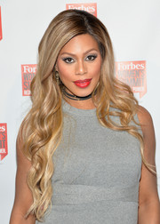 Laverne Cox sported gorgeous flowing waves during the Forbes Women's Summit.