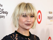 Chelsea Kane attended the 2016 GLSEN Respect Awards sporting a messy bob with eye-skimming bangs.