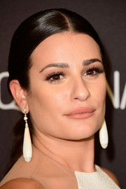 Lea Michele made a statement with opal and diamond drop earrings at the 2016 Golden Globes after parties.