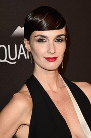 Paz Vega worked a gelled-down 'do at the InStyle and Warner Bros. Golden Globes post-party.