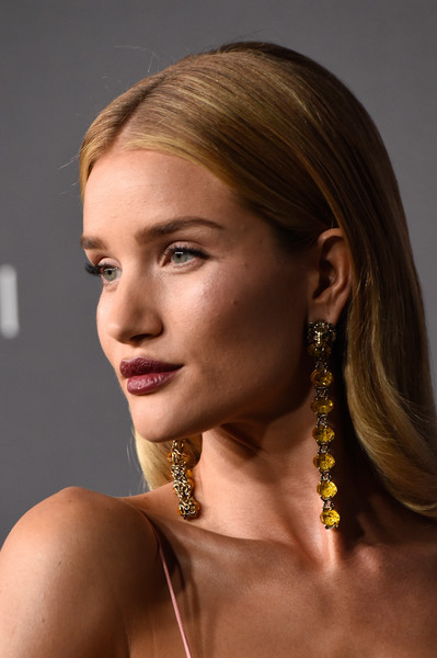 More Pics of Rosie Huntington-Whiteley Long Center Part (4 of 17) - Long Hairstyles Lookbook - StyleBistro