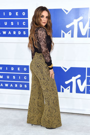 Jojo brought a '70s vibe to the 2016 MTV VMAs with these gold brocade bell-bottoms by Erika Cavallini.