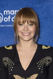 Bryce Dallas Howard sported a ponytail with rounded bangs at the 2016 March of Dimes Celebration of Babies.