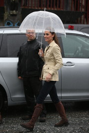 Kate Middleton stepped out on a rainy day in Canada carrying a bubble umbrella.