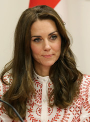 Kate Middleton wore her hair in loose, bouncy waves while visiting the Canadian Coast Guard.