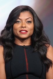 Taraji P. Henson was stylishly coiffed with this side-parted wavy 'do at the 2016 Summer TCA Tour.