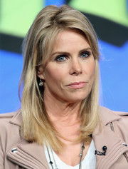Cheryl Hines sported a casual straight 'do with side-swept bangs at the 2016 Summer TCA Tour.