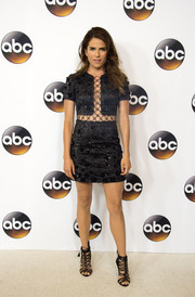 Karla Souza finished off her head-turning attire with a pair of black gladiator heels.