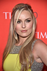 Lindsey Vonn looked enchanting wearing this half-up hairstyle at the Time 100 Gala.