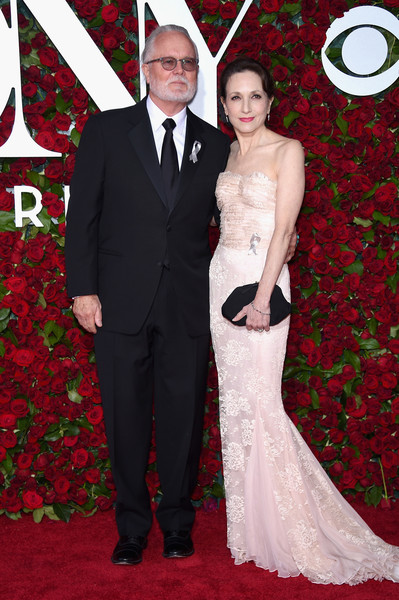 More Pics of Bebe Neuwirth Frame Clutch (1 of 6) - Bebe Neuwirth Lookbook - StyleBistro [red carpet,carpet,dress,red,gown,formal wear,flooring,suit,tuxedo,event,arrivals,chris calkins,bebe neuwirth,new york city,the beacon theatre,l,tony awards]