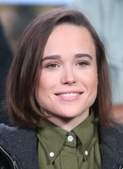 Ellen Page attended the 2016 Winter TCA Tour wearing her hair in a side-parted bob.