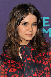 Maia Mitchell looked glam with a medium layered cut at the Winter TCA Tour.