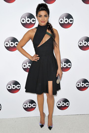 Priyanka Chopra showed off her figure in a cut-out dress at the Winter TCA Tour.
