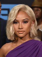 Karrueche Tran got dolled up with this blonde wavy 'do for the 2017 BET Awards.