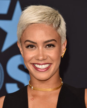 Sibley Scoles attended the 2017 BET Awards wearing her hair in a boy cut.