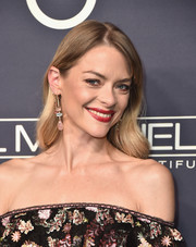 Jaime King completed her look with chic gemstone drop earrings by Irene Neuwirth.