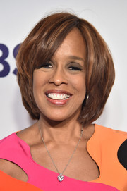 Gayle King attended the 2017 CBS Upfront wearing her hair in a classic bob.