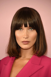 Bella Hadid worked a cute pageboy cut at the 2017 CFDA Fashion Awards.