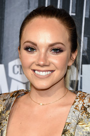 Danielle Bradbery opted for a casual ponytail when she attended the 2017 CMT Music Awards.