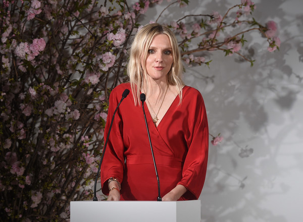 More Pics of Laura Brown Wrap Dress (1 of 6) - Dresses & Skirts Lookbook - StyleBistro [red,pink,beauty,blond,spring,fashion,outerwear,shoulder,photography,tree,united nations headquarters,new york city,dvf awards,laura brown]