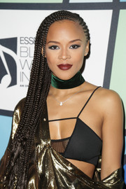 Serayah attended the 2017 Essence Black Women in Music event wearing her hair in ultra-long cornrows.