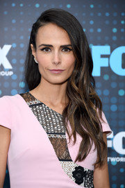 Jordana Brewster looked gorgeous with her long, piecey waves at the 2017 Fox Upfront.