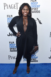 Danielle Brooks styled her outfit with a pair of Chloe Gosselin T-strap sandals.