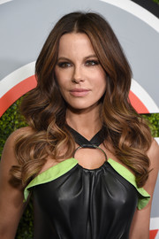 Kate Beckinsale framed her face with glamorous bouncy curls for the 2017 GQ Men of the Year party.