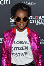 Lupita Nyong'o made a cool statement with these sparkly round sunglasses by Gucci at the 2017 Global Citizen Festival.