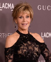 Jane Fonda rocked a messy updo at the 2017 LACMA Art + Film Gala.