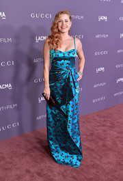 Amy Adams kept it fun yet glam in a blue bow-print gown by Gucci at the 2017 LACMA Art + Film Gala.