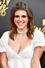 Molly Tarlov sported a boho-cute half-up braid at the MTV Movie and TV Awards.