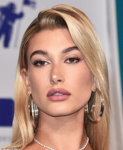 Hailey Baldwin polished off her look with a pair of large sterling hoops by Jennifer Fisher.