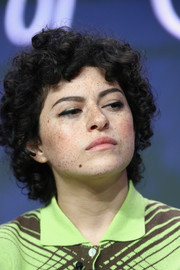 Alia Shawkat wore her hair in bouncy curls at the 2017 Summer TCA Tour.