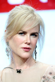 Nicole Kidman pulled her hair back into a loose ponytail for the 2017 Summer TCA Tour.