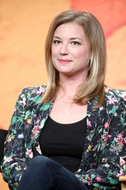 Emily VanCamp kept it simple with this mid-length layered cut at the 2017 Summer TCA Tour.