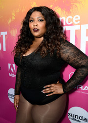 Lizzo jazzed up her outfit with some nail art for the 2017 Sundance NEXT FEST.