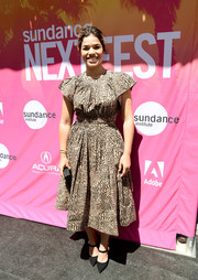 America Ferrera paired her dress with pointy black Mary Janes by Kurt Geiger.